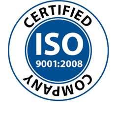 ISO 9001:2008 certified emblem